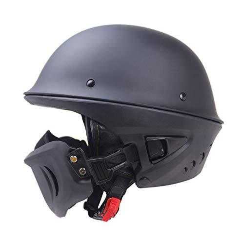 zyy Helm, Lokomotive Rogue Helm DOT-Zertifizierung Abnehmbare Maske Retro Vier Jahreszeiten