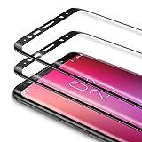 Bewahly Vetro Temperato Samsung Galaxy S9 Plus [2 Pezzi], 3D Curvo Copertura Completa Pellicola Protettiva in Vetro Temperato per Samsung Galaxy S9 Plus [9H Durezza, Alta Definizione] - Nero
