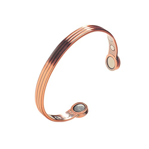 Women's Greek Pure Copper Magnetic Healing Bracelet for Arthritis, Tennis Elbow, Sports Recovery, and Joint Pain Relief – Adjustable Sizing - Earth Therapy