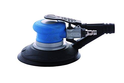 Exzenterschleifer ST 150 | Professioneller Druckluftschleifer für Karosseriebereich und Holzhandwerk | Drehzahlregelung | mit integrierter Absaugung und Anschluss für externe Absaugung