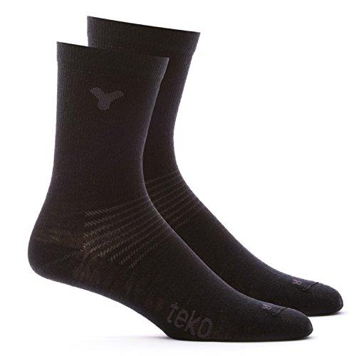 Teko Socken 2-Paar-Crew-Liner, schwarz-schwarz, L