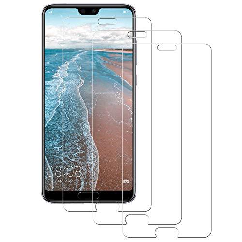 Aspiree Cristal Templado Huawei P20 Pro,[3-Unidades] Protector de Pantalla para Huawei P20 Pro [Alta Definicion, 9H Dureza, Resistente a Arañazos]