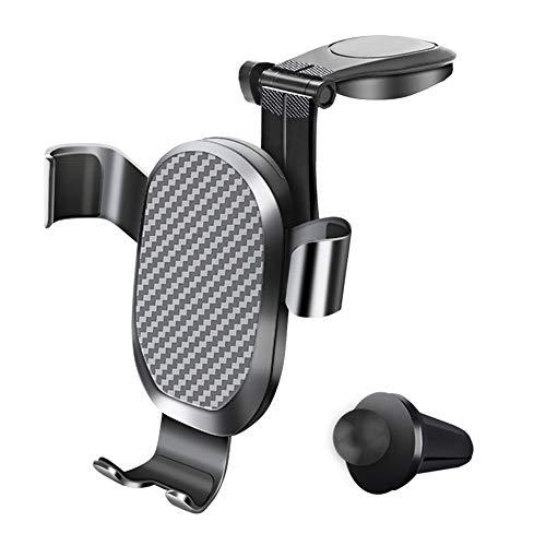 AMAYGA Soporte Móvil Coche Gravedad,360° Rotación Universal Soporte Móvil para Rejilla del Aire,para iPhone XS/XS MAX Google Pixel 3 XL,Samsung,GPS y Otros Smartphone