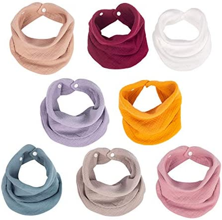 Muslin Baby Bandana Bibs Multi Use Scarf Bibs Super Soft Absorbent Drooling Bibs Breathable product image
