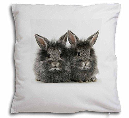 Silber Kaninchen weicher Samt Gefühl Kissenhülle mit Kissen