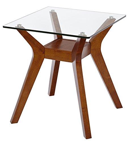 Target Marketing Systems Fontana End Table, Walnut