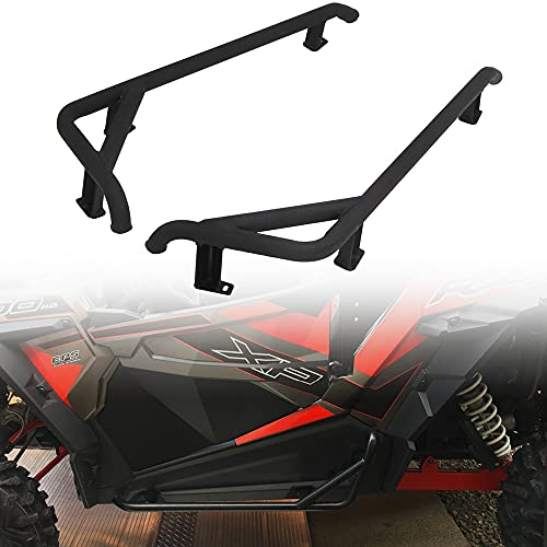 ELITEWILL Black RZR Nerf Bars Rock Sliders Heavy Duty Side Step Fit for 2014-2021 Polaris RZR 900 Trail, 900S, 1000S, 1000XP, Turbo - 2 Seater