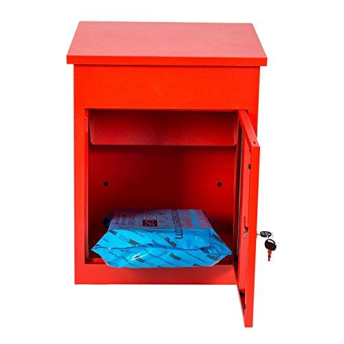 Paketbriefkasten Smart Parcel Box, rot - 5