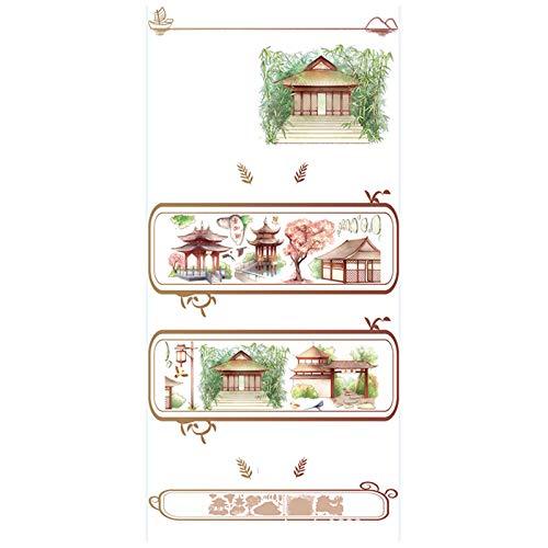 Lanceasy Cinta adhesiva decorativa Washi Tape para arte DIY suministros de manualidades, planificador, scrapbook paquete de regalo