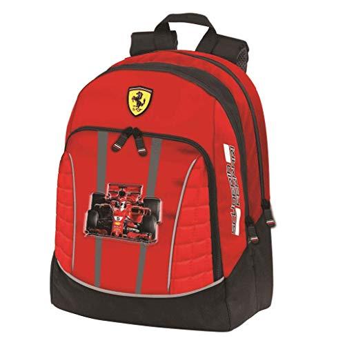 Ferrari Zaino Organizzato, Unisex-Bambini, Rosso, Taglia Unica