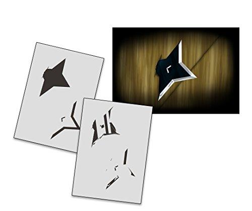 UMR-Design AS-267 Ninja Star Airbrushschablone Step by Step Grösse XL