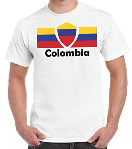2Store24 Copa del Mundo 2018 Camiseta Hombre Bandera de Colombia Talla S - 5XL De Gran tamaño