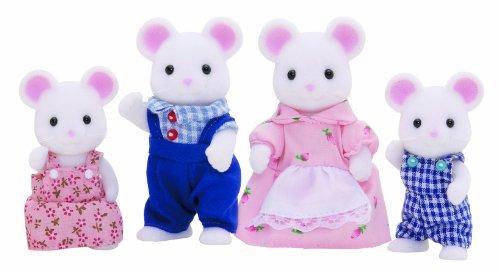 Sylvanian Families- White Mouse Family Mini Muñecas y Accesorios, Multicolor...