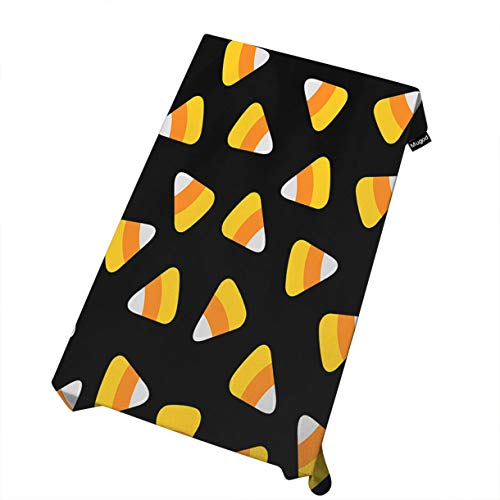 Mugod Candy Corn Tablecloth Happy Halloween Seamless Pattern with Triangle Candies Dining Room Kitchen Decoration Rectangular Table Cover 52