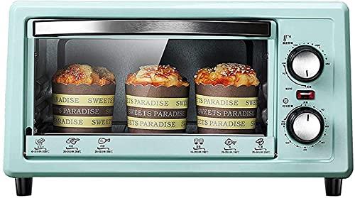 Mini forno elettrico multifunzione domestico, forno a forno retrò Pane elettrico per pane elettrico, rivestimento in acciaio inox intelligente Forno a microonde, con bakeware e griglia, blu