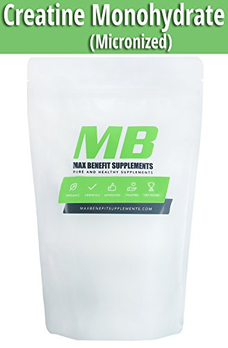MaxbenefitSupplements 100% Pure Creatine Monohydrate 200 mesh - Pre/Post Workout Supplement for Muscle Growth and Energy 1000g - 400 Servings