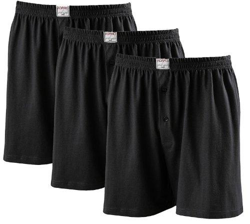 ADAMO Boxershorts James - 3er Pack - in schwarz - große Größen - bis Gr. 20 / 8XL