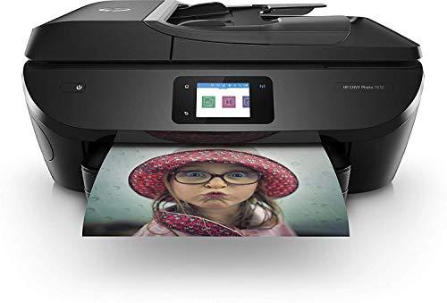 HP Envy Photo 7830 Stampante Fotografica Multifunzione a Getto di Inchiostro, Stampa, Scannerizza, Fotocopia, Fax, Wi-Fi Direct, Ethernet, 6 Mesi di Servizio Instant Ink Inclusi, Nero