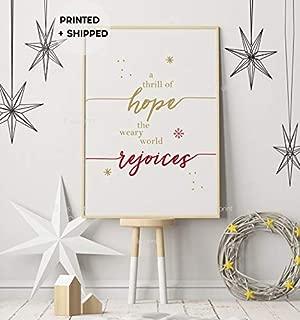 Minitowz A Thrill of Hope Print, Xmas Wall Art, Christmas Noel Poster, Christmas Printed Decor, Christmas Sign, Farmhouse Christmas, Holiday Decor