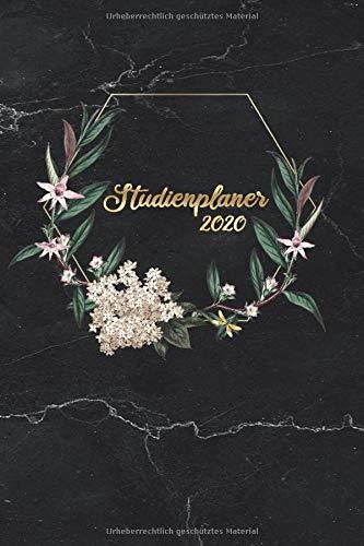 Studienplaner 2020: Semesterplaner, Studentenkalender für das Sommersemester 2020 (April - September) im Boho Marmor Design | ca. DIN A5 (6x9\'\'), 270 ... Kalender und Planer für Studenten und Schüler