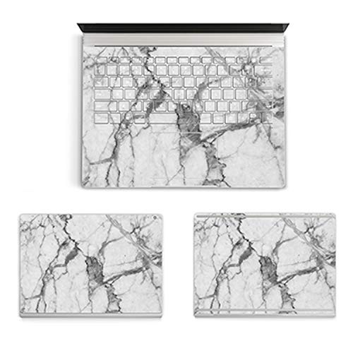 Marble Texture Laptop Body Top & Bottom Sticker Decal for 13' Microsoft Surface Book 1 2 15.5 13.5 Protective Cover Skin-ABC-Surface Book2 13.5