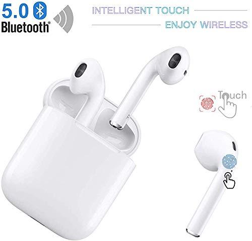 Neues drahtloses Bluetooth-Headset, IPX7 wasserdicht, mit [24h] mobilem Ladekoffer, 3D-Stereoanlage und hochauflösendem integriertem Mikrofon,Geeignet für iPhone/Samsung/Xiaomi/Apple Airpods