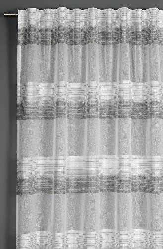 Gardinia Tenda con fettuccia, Grigio, 140 x 245 cm, Poliestere, 140 x 245