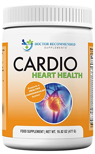 Cardio Heart Health Powder - L-Arginine Supplement 5000mg & L-Citrulline 1000mg, 477 Grams