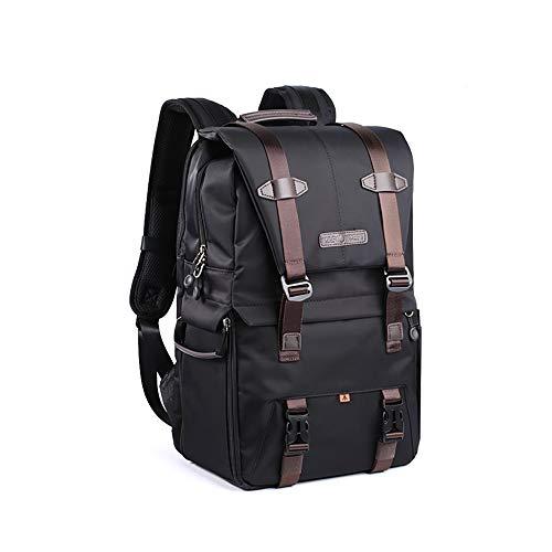 ALRY Kamerarucksack Wasserdicht für DSLR / (Canon, Nikon, Sony usw.), Laptops, Stative, Blitzgeräte, Objektive und Zubehör,Black