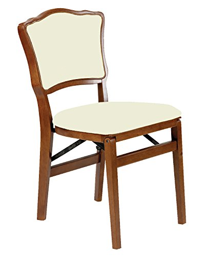 Stakmore French Upholstered Back Folding Chair Finish, Set of 2, Fruitwood
