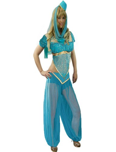 Yummy Bee - Arabische Prinzessin Bauchtänzerin Bollywood Karneval Fasching Kostüm Damen Größe 34 - 46 (40)