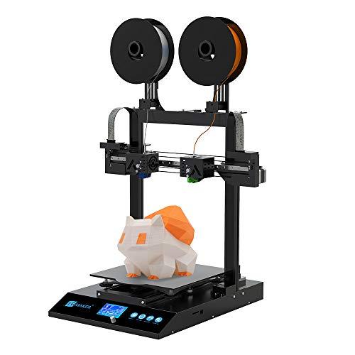 JGMAKER Artist-D 3D Drucker, Unabhängiger Dual Extruder Schnelldüsenersatz Direkteinzug Filament, Unterstützt PLA, TPU, PETG Filament Großdruckvolumen 300 * 300 * 340 mm