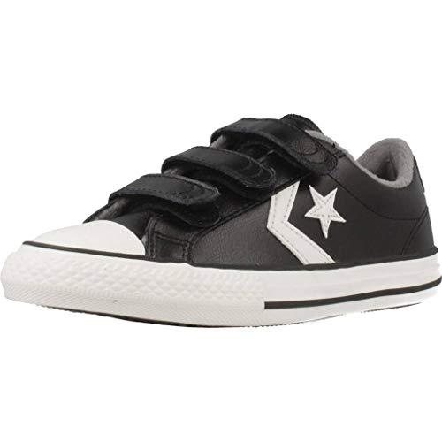 Converse Star Player 3V, Zapatillas de Deporte Unisex niño, Multicolor (Black/Mason/Vintage White...