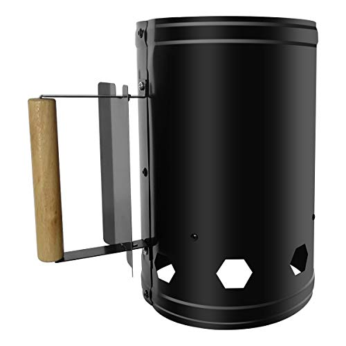 Feibrand Large Stainless Grill Charcoal Chimney Starter Coal Starter Chimney for Outdoor Grill Camping BBQ