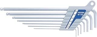 ホーザン(HOZAN) ボールポイントレンチセット ハードクロムメッキ 対辺サイズ 1.5/2/2.5/3/4/5/6mm W-110