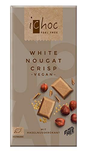 iChoc White Nougat Crisp 80g | Chocolade vegan