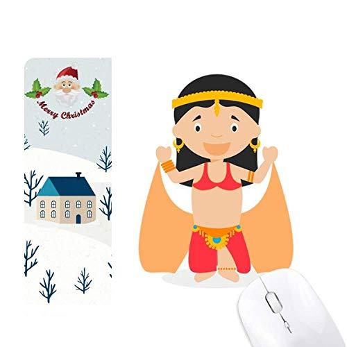Alfombrilla de ratón tradicional con diseño de bailarina oriental de Papá Noel