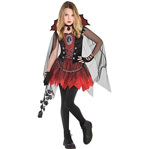 amscan Girls Dark Vampire Costume- Medium (8-10)- 3 pcs, Multicolor (8402375)