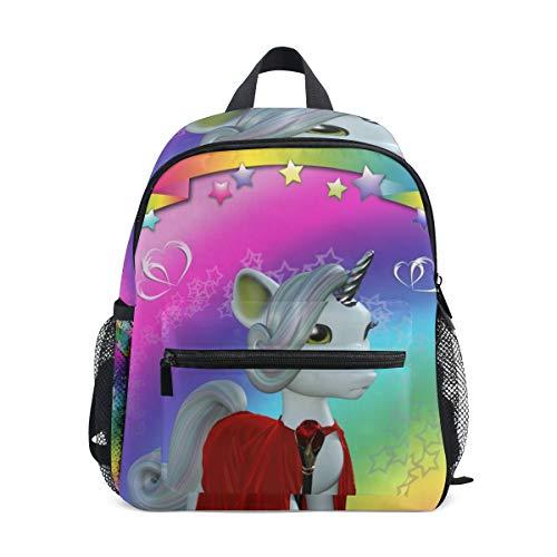 Arcobaleno Bellezza Unicorno Zaino per Asilo Nido Prescolare Bambini Studente Bookbag Zainetti per Viaggio Ragazze Ragazzi 2-7 Anni Capretto