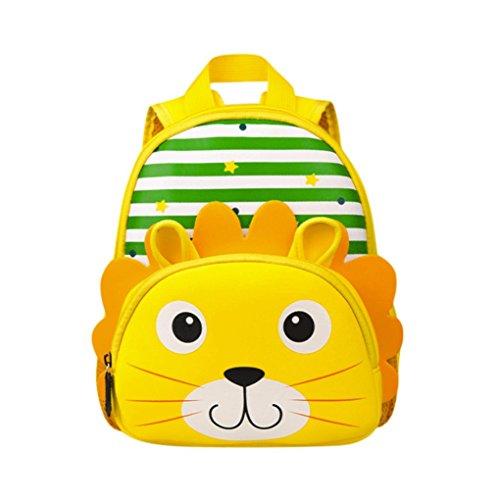 Longra Cute Tier Kinder Rucksack Kleine Schultasche für Mädchen und Jungen Buch Tasche für Kleine Rucksäcke Kindergartenrucksack Kindergartentasche Mini Backpack Kinder Kleinkind Rucksack (Grün)