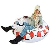 GoFloats Winter Snow Tube - Inflatable Toboggan Sled for Kids and Adults (Choose from Unicorn, Ice Dragon, Polar Bear, Penguin, Flamingo) (ST-POLARBEAR-01)