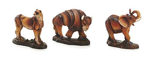 Sunny Toys 15028 - Animali Selvaggi in Poliestere, Circa 14 cm, Set da 3 Pezzi Assortiti