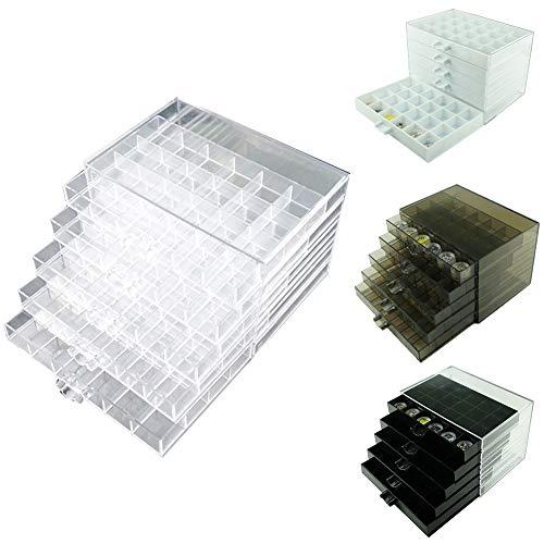Steellwingsf Klar 120 Grids Nail Art Strass Perlen Aufbewahrungsbox Fall Schmuck Container Weiß