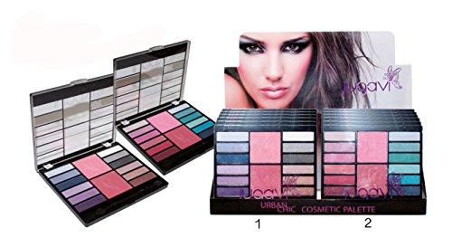 Palette per il trucco, 12 ombretti e 2 blush – 2 modelli a scelta