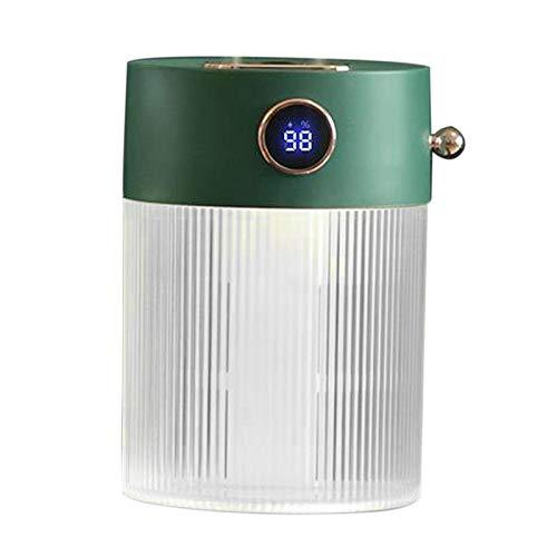 LOVIVER Humidificador ultrasónico portátil con Pantalla Inteligente purificador de Niebla de Cristal difusor de Aceite Esencial de Yoga purificador de Aire de - Verde de alimentación USB