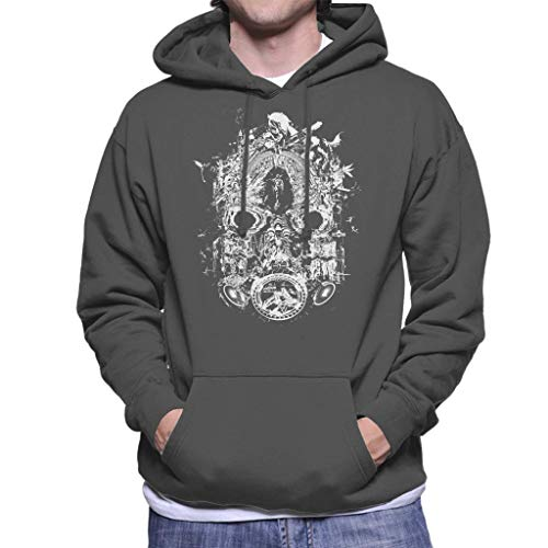 Cloud City 7 Borderlands 3 Masker van Mayhem Wit Print Heren Hooded Sweatshirt