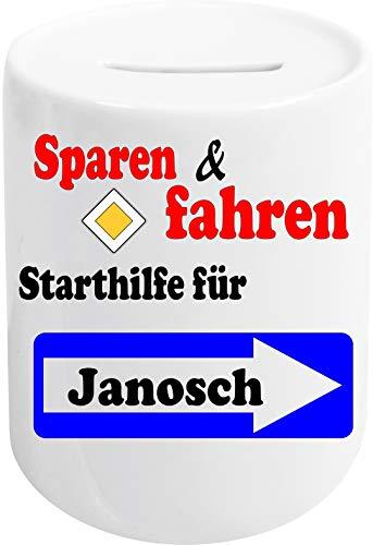 Ann Susan Spardose Bedruckt mit Sparen & Fahren - Starthilfe für Janosch oder individuell gestaltbar