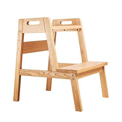 XITER Houten Kruk Stevig Hout Eiken Stepkruk Ladders voor Kinderen & volwassenen Draagbare Multifunctionele Stap Ladders