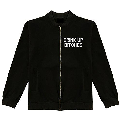 Drink Up Bitches Classic Bomber Jacket Large Black