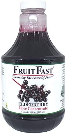 100 Pure Elderberry Juice Concentrate 32 fl oz by FruitFast Non GMO Gluten and BPA Free All product image